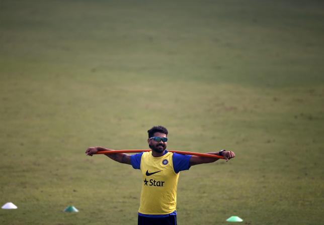 India's Murali Vijay attends a practice session ahead of their fourth and final test cricket match against South Africa, in New Delhi, India, December 2, 2015. REUTERS/Anindito Mukherjee