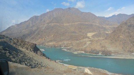 File- Diamer-Bhasha Dam on River Indus in the Gilgit-Baltistan Region of Northern Pakistan. Photo: Imran Khan/ICIMOD