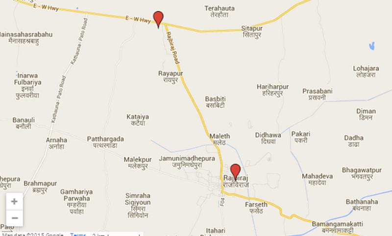 Rajbiraj-Rupani road section. Source: Google Maps