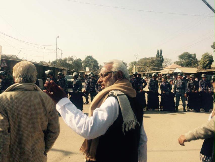 Rajendra Mahato at Nepal-India border point in Rani of Birantagar.. Photo Courtesy: Upendra Mahato