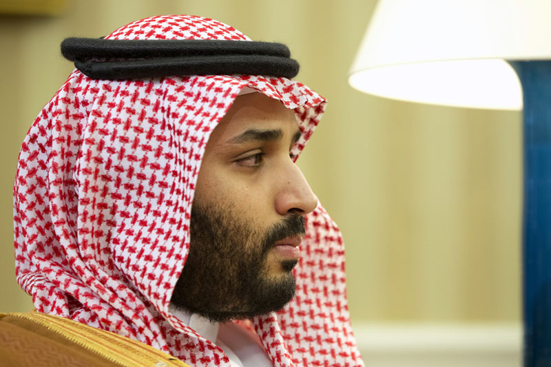 Saudi Arabian Deputy Crown Prince Mohammed bin Salman listens in the Oval Office of the White House in Washington, during a meeting between Saudi Arabian Crown Prince Mohammed bin Nayef and President Barack Obama on May 13, 2015. Photo: AP/File
