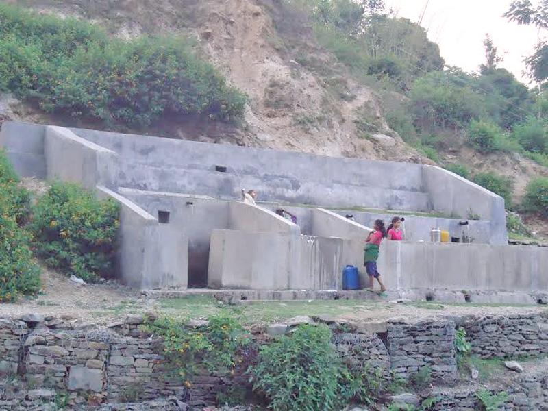 Separate spouts allocated for Dalits in  Saredeuma of Kuldebmandu VDC in Bajura. Photo: Prakash Singh