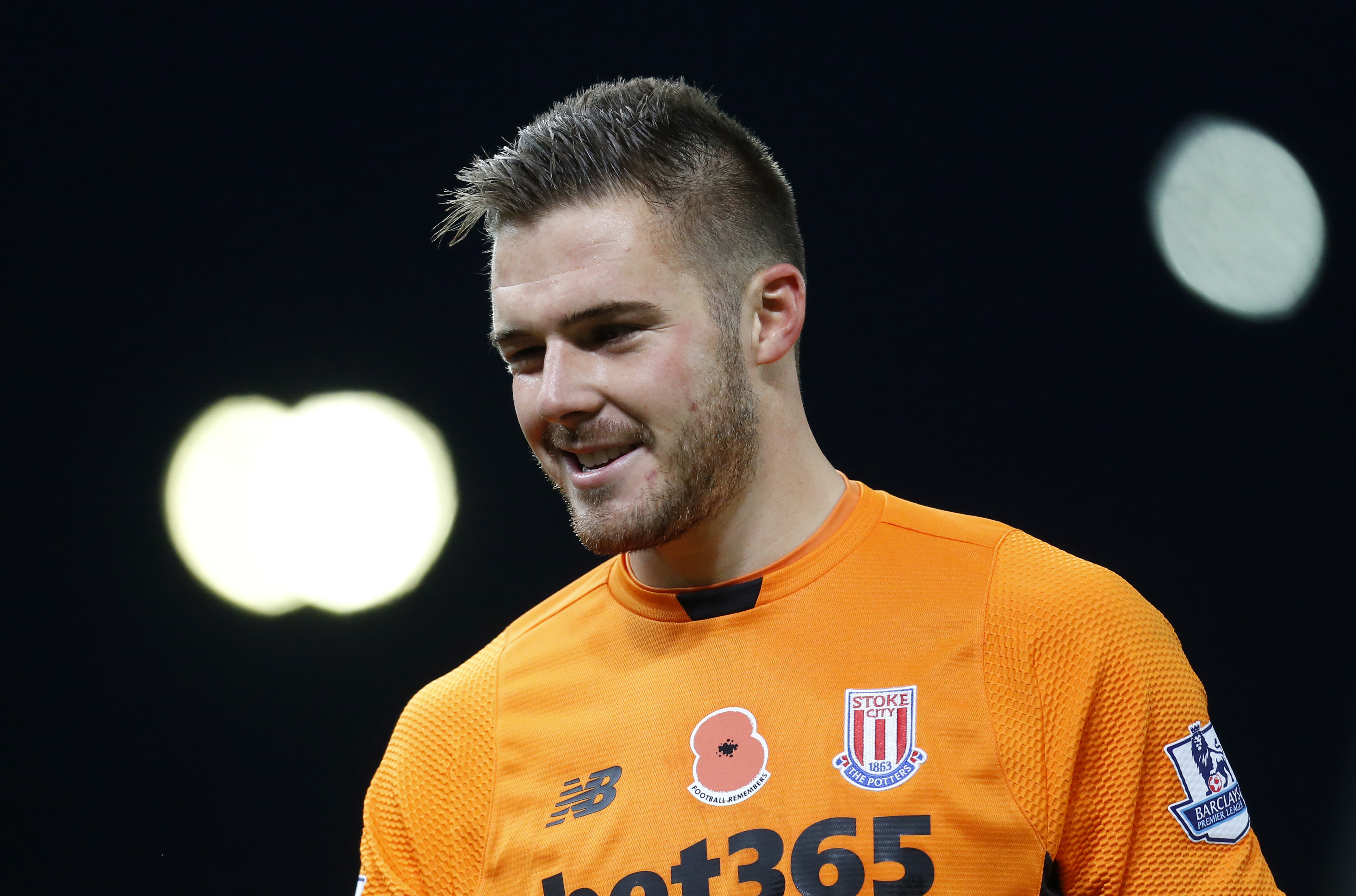 Stoke City's goalkeeper Jack Butland during their match of Chelsea Barclays Premier League at Britannia Stadium on November 7, 2015. Photo: Action Images via Reuters