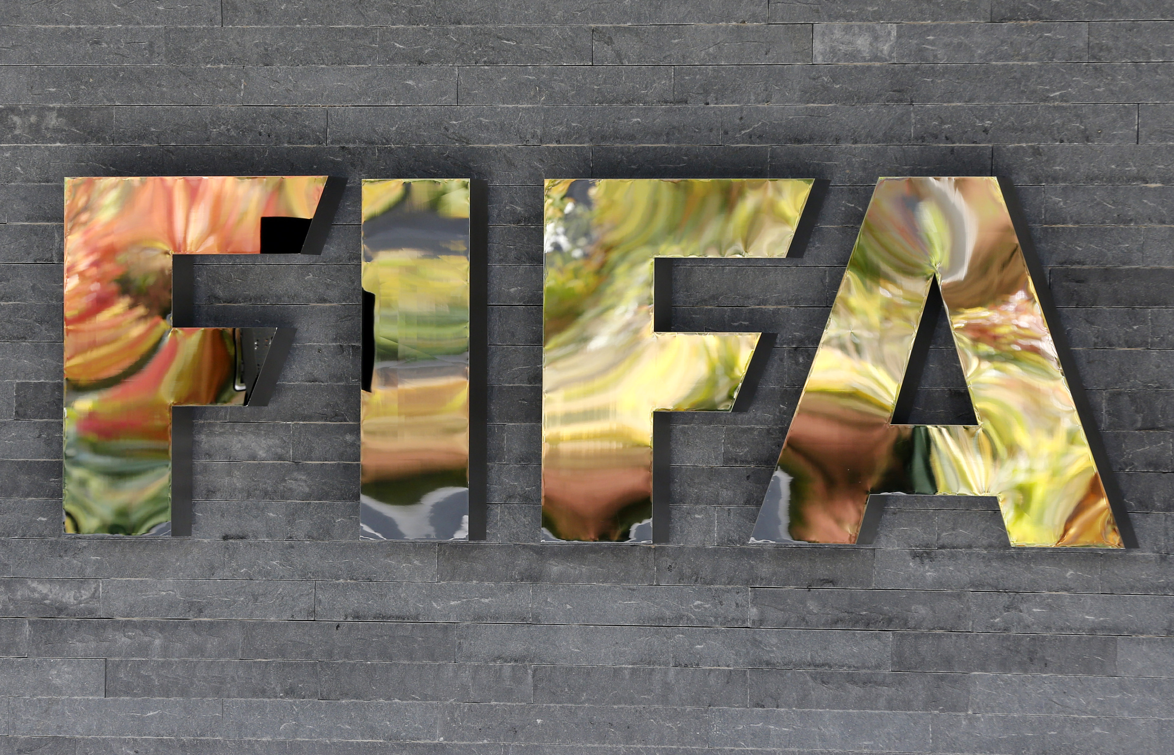 A logo of FIFA is seen on September 25, 2015. Photo: Reuters
