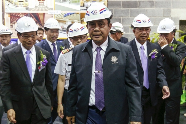 The junta leadership, including Prime Minister General Prayut Chan-O-Cha (centre), had insisted there was no graft related to the park. Photo: Reuters