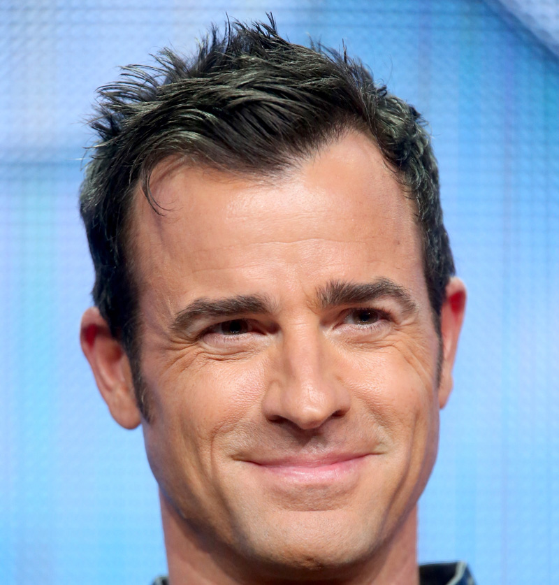 BEVERLY HILLS, CA - JULY 30:  Actor Justin Theroux speaks onstage during the 'The Leftovers' panel discussion at the HBO portion of the 2015 Summer TCA Tour at The Beverly Hilton Hotel on July 30, 2015 in Beverly Hills, California.  (Photo by Frederick M. Brown/Getty Images)