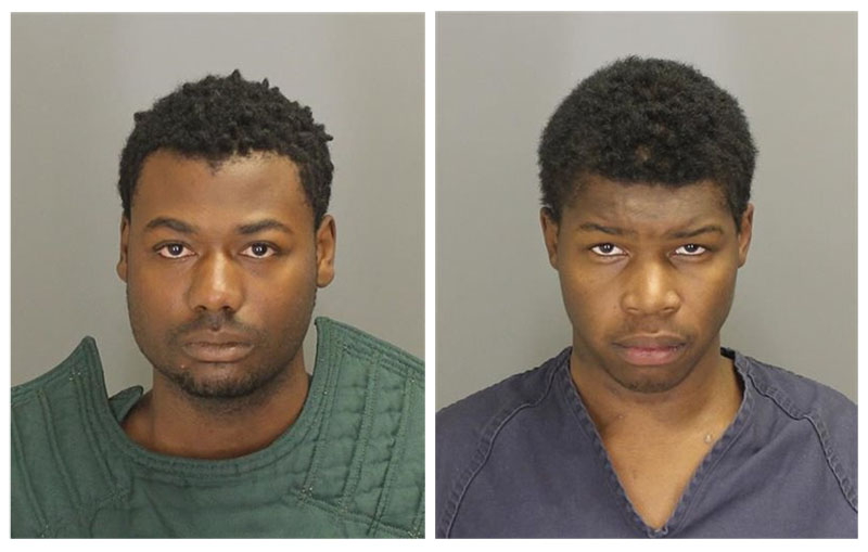 The Oakland County Sheriff's Office Authorities say Nikey Dashone Walker (left) and Shadeed Dontae Bey stole a cellphone from a suburban Detroit man with cerebral palsy, beat him, recorded the assault on his cellphone and posted it to his Facebook page. Bey and Walker were arrested following the Sunday, November 29, 2015 attack at the victim's apartment complex in Pontiac, Michigan. Photo: AP