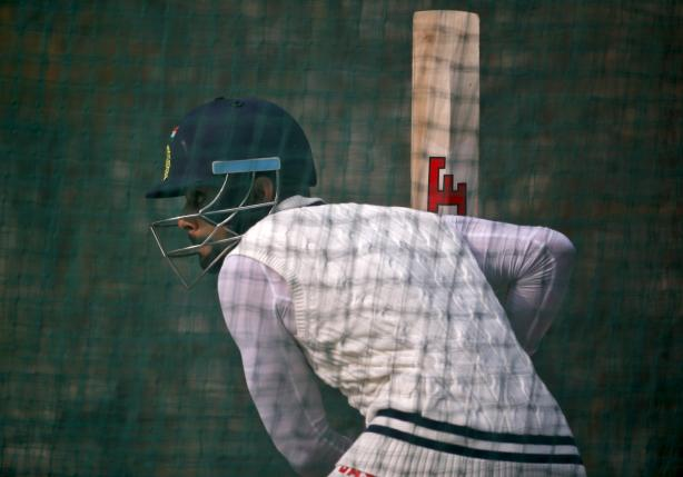 Virat Kohli bats in the nets during a practice session ahead of their fourth and final test cricket match against South Africa, in New Delhi, December 2, 2015. REUTERS/Anindito Mukherjee