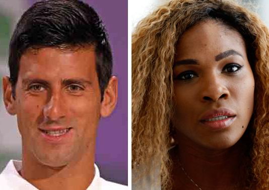 Tennis players Novak Djokovic of Serbia (left) and Serena Williams of USA. Photos: Reuters