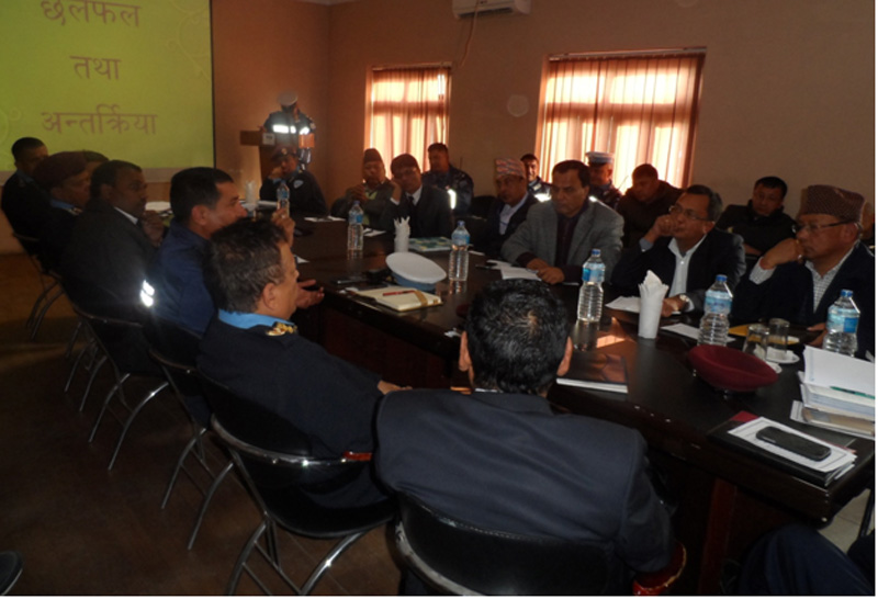 Stakeholders attend an interaction organised by the Metropolitan Traffic Police Division, in Kathmandu, on Wednesday, December 23, 2015. Photo: MTPD