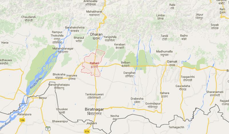 Itahari of Sunsari district. Map: Google