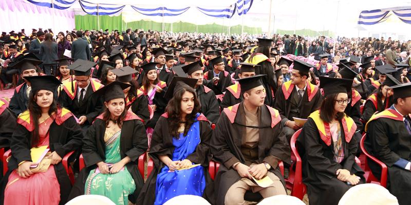 Graduates of the Kathmandu University attend its 21st convocation in Dhulikhel of Kavre, on Sunday, December 6, 2015. Photo: RSS