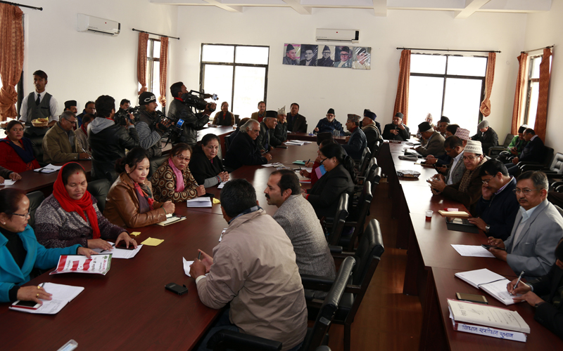 Nepali Congress holds its Central Working Committee meeting in Sanepa of Lalitpur, on Wednesday, December 16, 2015. Photo: RSS