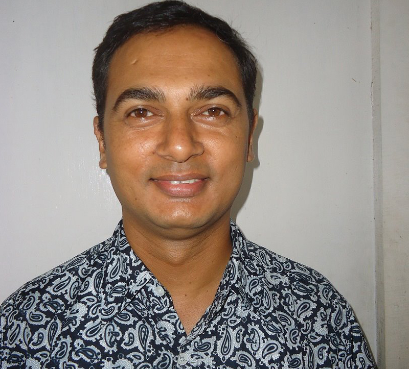 Prime Minister KP Sharma Oli's press coordinator Chetan Adhikari. Photo: facebook.com/chetan.adhikari.92