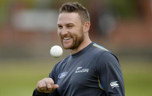 New Zealand's Brendon McCullum during nets. Photo: Reuters