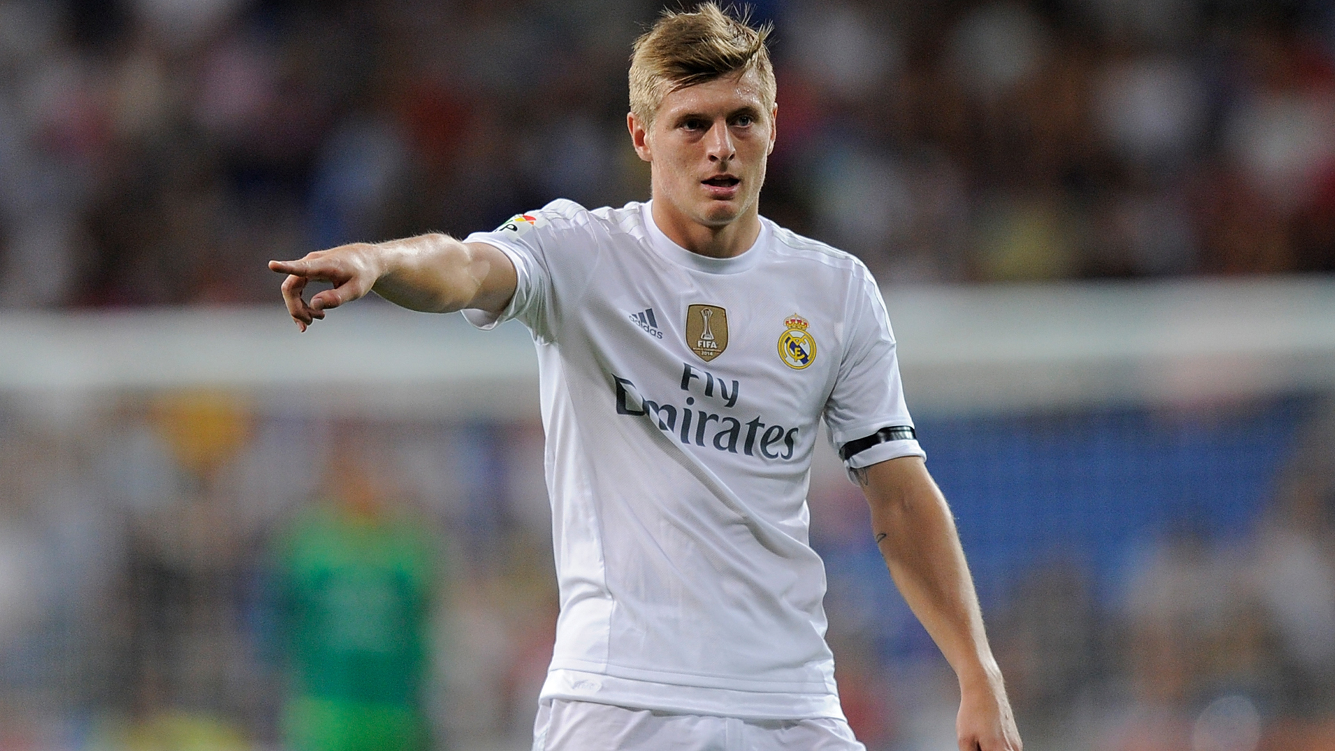 Toni Kroos of Real Madrid reacts during the Santiago Bernabeu Trophy match between Real Madrid and Galatasaray at Estadio Santiago Bernabeu on August 18, 2015. Photo: Reuters