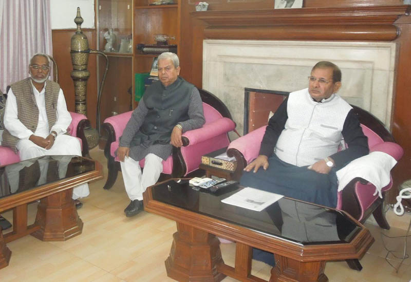 UDMF leaders holding a meeting with with JD(U) leader Sharad Yadav. Photo: facebook.com/sharadyadavforindia