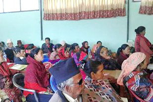 Conflict victims in Rukum district on Friday, January 1, 2016. Photo: THT