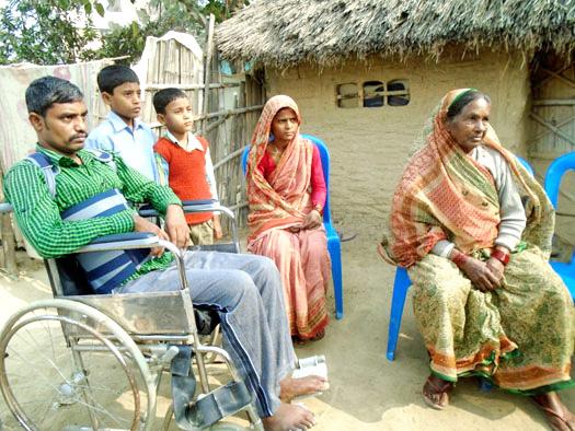 Bhuvaneshwor Mandal, a  victim of police firing in the recent Madhes agitation, in Rajbiraj, Saptari, on Thursday, January 14, 2016. Photo: THT