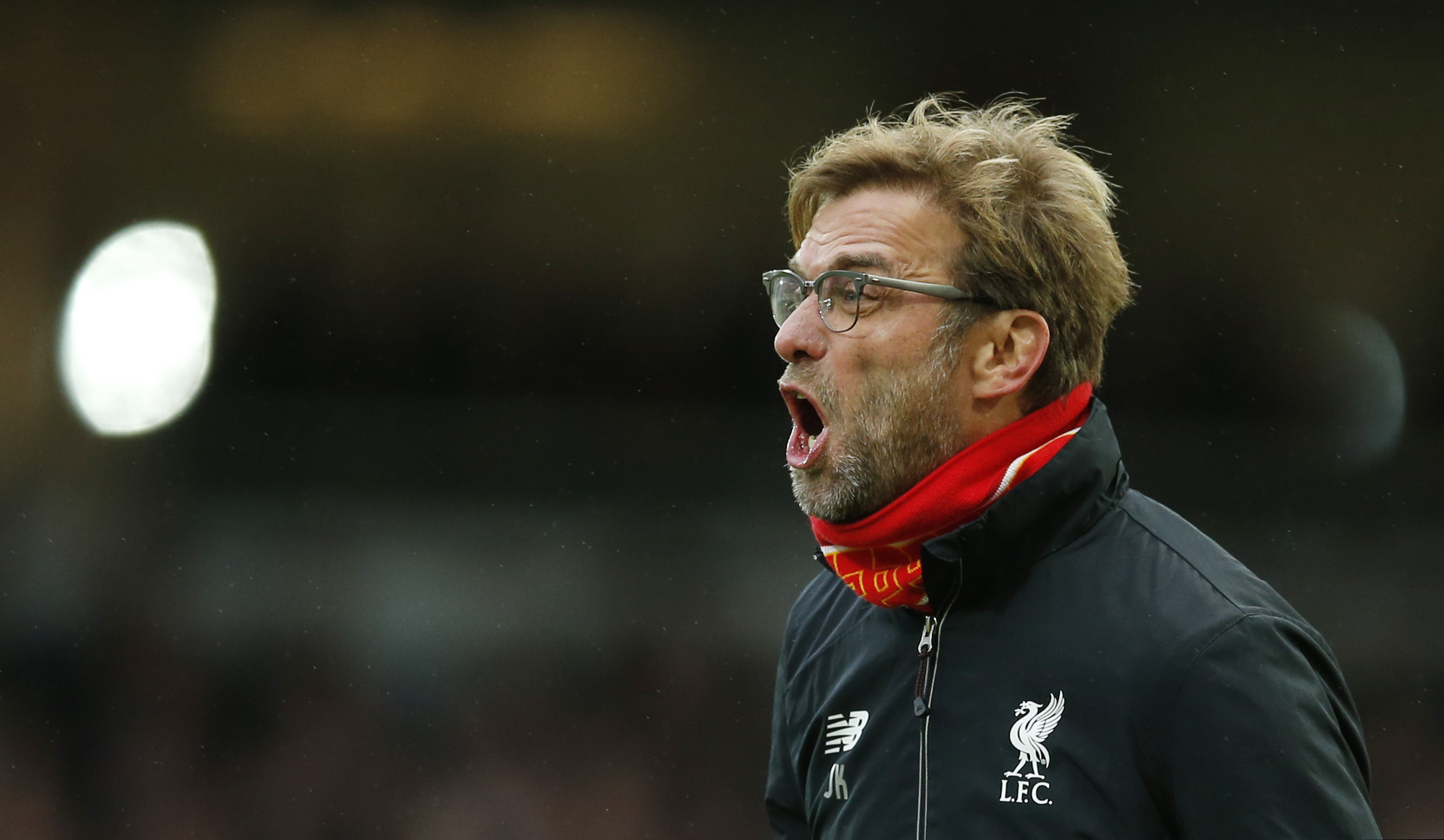 Liverpool manager Juergen KloppnAction during Barclays Premier League game against West Ham United at Upton Park in January 2, 2016. Photo: Reuters