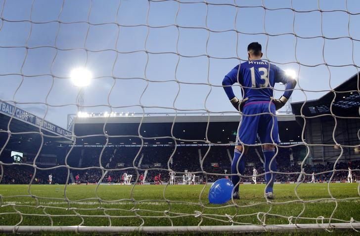 Football Soccer - West Bromwich Albion v Peterborough United - FA Cup Fourth Round - The Hawthorns - 30/1/16nWest Brom's Boaz Myhill is dejected after Peterborough's  second goal nMandatory Credit: Action Images / Craig BroughnLivepic