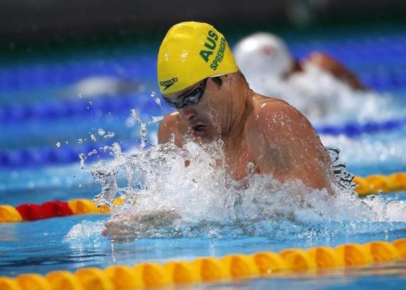 Australian swimmer Christian Sprenger. Photo: Reuters