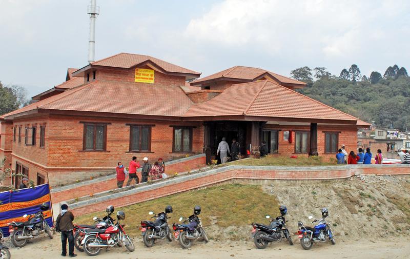 The newly built electric crematorium on the premises of Pashupatinath Aryaghat, in Kathmandu, on Sunday, January 24, 2014. Photo: THT