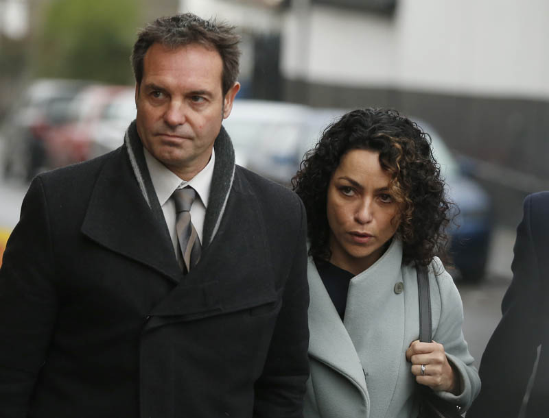 Former Chelsea team doctor Eva Carneiro for a nhearing with her husband Jason De Carteret in Croyden on Wednesday. Photo: AP