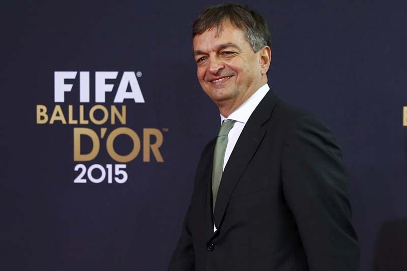 FIFA presidential candidate Jerome Champagne arrives on the red carpet for the FIFA Ballon d'Or 2015 awards ceremony in Zurich, Switzerland, on January 11, 2016. Photo: Reuters