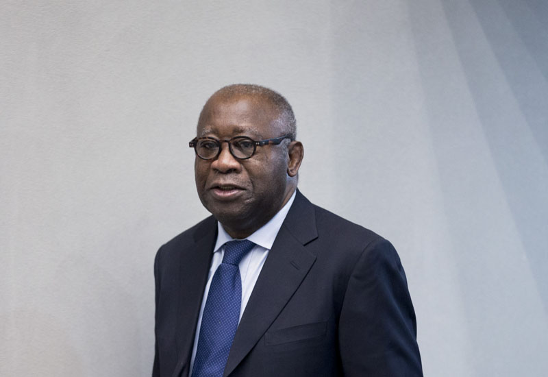 Former Ivory Coast president Laurent Gbagbo arrives for the start of his trial at the International Criminal Court in The Hague, Netherlands, on Thursday, January 28, 2016. Photo: AP