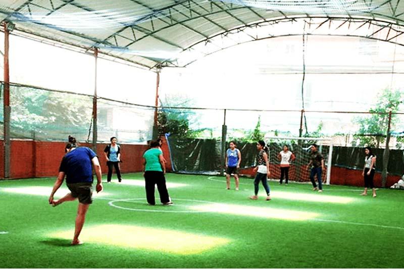 Futsal players in a Kathmandu-based futsal court. Photo: Kathmandu Futsal