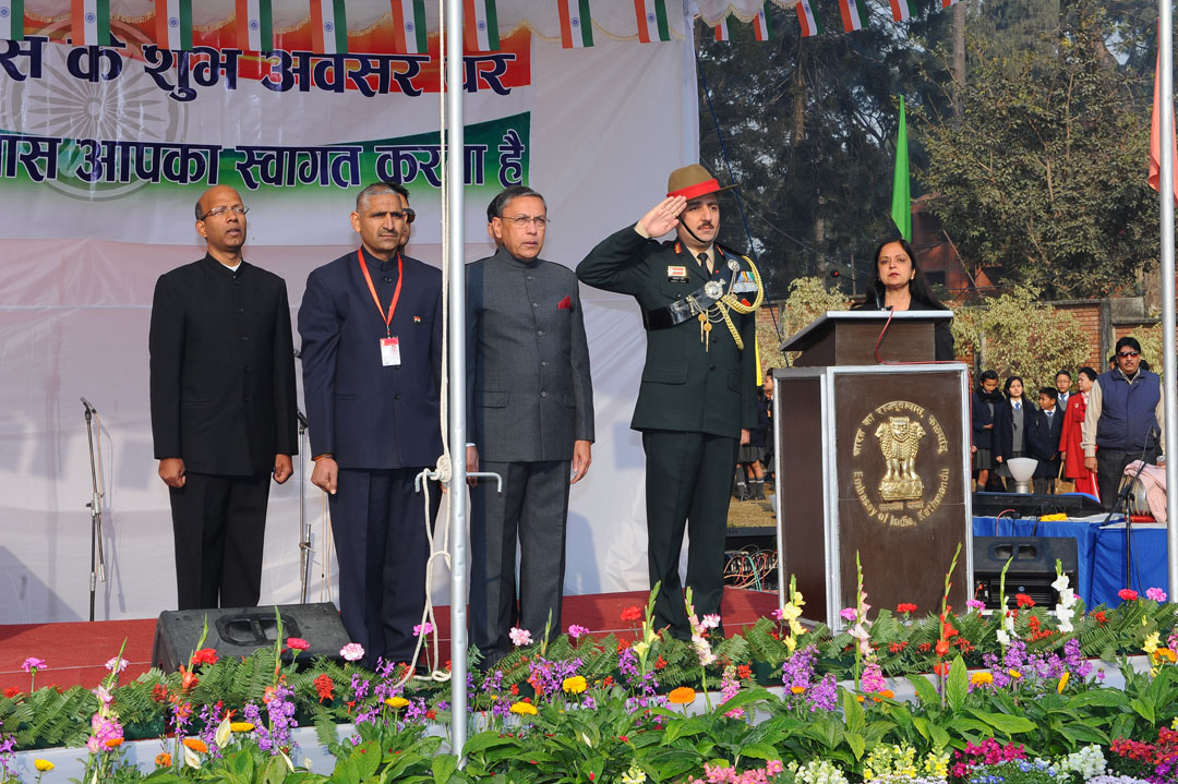 India's Republic Day function at the Indian Embassy in Kathmandu.