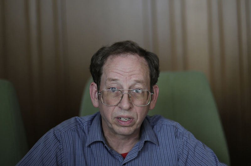 FILE - Jeffrey Fowle, an American detained in North Korea, speaks to The Associated Press in Pyongyang, North Korea on September 1, 2014. Photo: AP