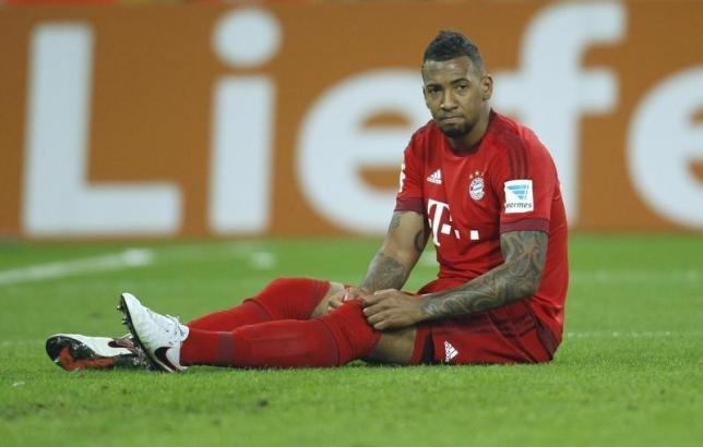 Bayern Munich's Jerome Boateng reacts during a Bundesliga game against Borrusia Moenchengladbach at Borussia Park on December 5, 2015. Photo: Reuters