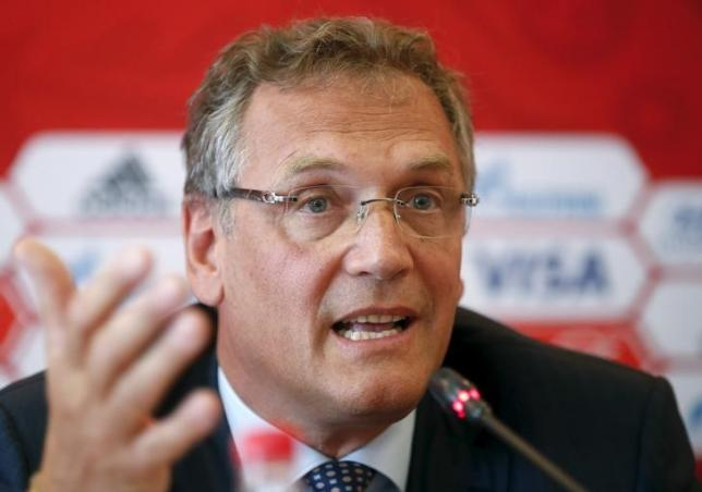 FIFA Secretary General Jerome Valcke speaks as he attends a news conference during his visit to the southern city of Samara, one of the 2018 World Cup host cities, Russia, June 10, 2015. Photo: Reuters