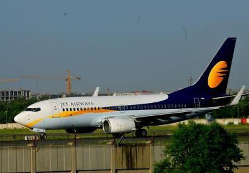 FILE: The Jet Airways flight 9W-260 stationed at Indira Gandhi International (IGI) Airport on Monday, January 25, 2016.