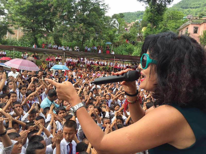 Komal Oli's performance at Gorkha Bazaar. Photo: THT/File