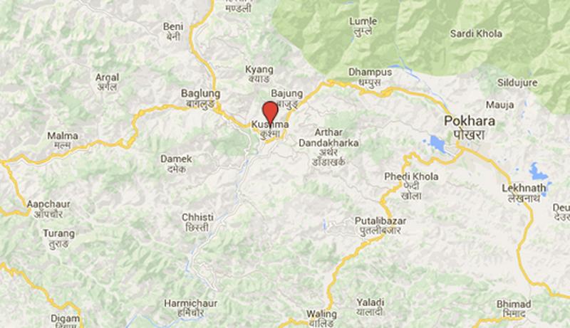 Kusma of Parbat district. Source: Google Maps