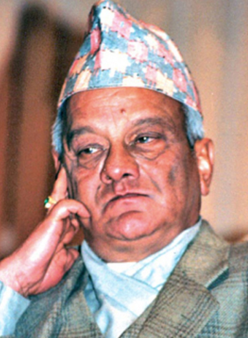 Rastriya Prajatantra Party chairperson and former prime minister Lokendra Bahadur Chand in this file photo/THT