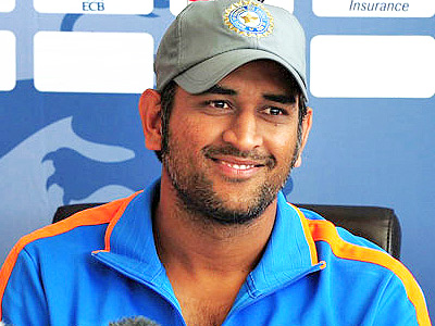 Indian cricket team skipper Mahendra Singh Dhoni attends press conference in this undated file photo.