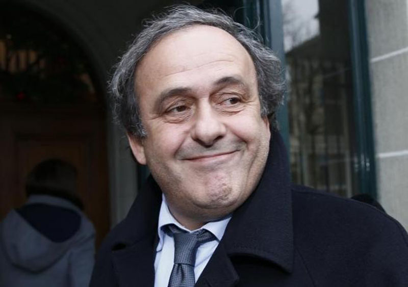 UEFA President Michel Platini smiles as he arrives for a hearing at the Court of Arbitration for Sport (CAS) in Lausanne, Switzerland December 8, 2015. Photo: Reuters