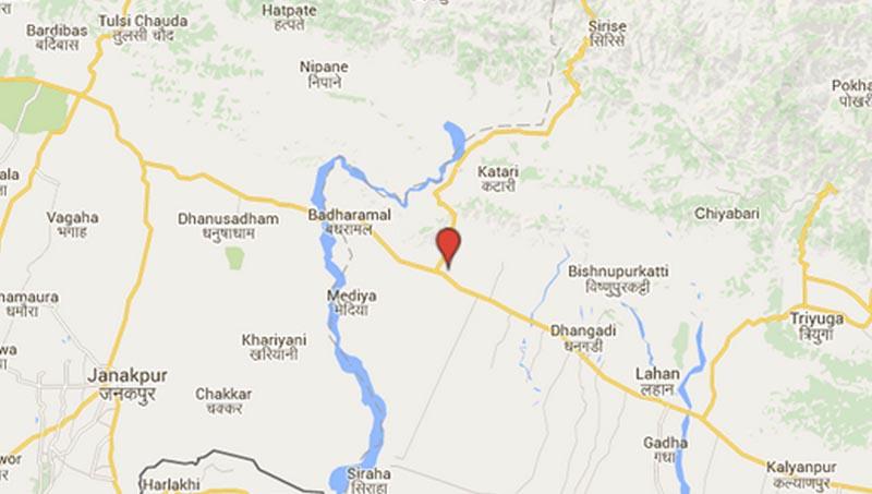 Mirchaiya of Siraha district. Source: Google Maps