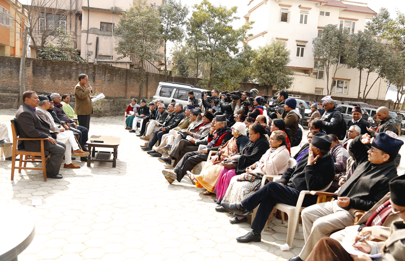 A Central Working Committe meeting of Nepali Congress takes place at the party's office in Sanepa, Lalitpur on Monday, January 25, 2016. Photo: RSS