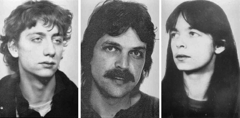 The undated wanted photos provided by German Federal Criminal Police show from left, Burkhard Garweg, Ernst-Volker Wilhelm Staub and Daniela Klette who are suspected being member in the RAF terror group.Photo: BKA via AP