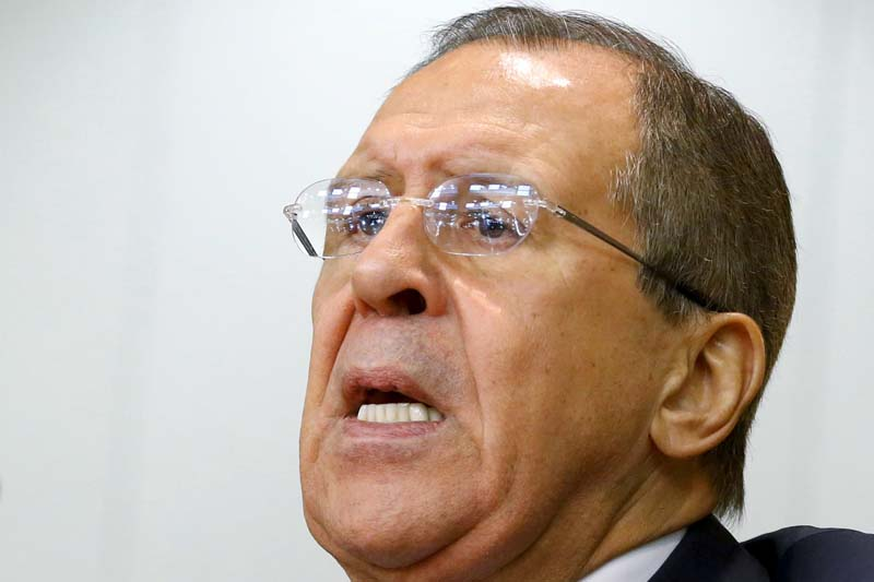 Russian Foreign Minister Sergei Lavrov speaks during a news conference in Moscow, Russia, on January 26, 2016. Photo: Reuters