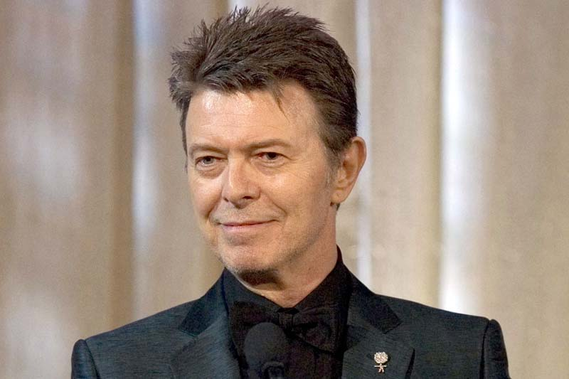 Singer David Bowie accepts the lifetime achievement award at the 11th Annual Webby Awards in New York on June 5, 2007. Photo: AP/ File