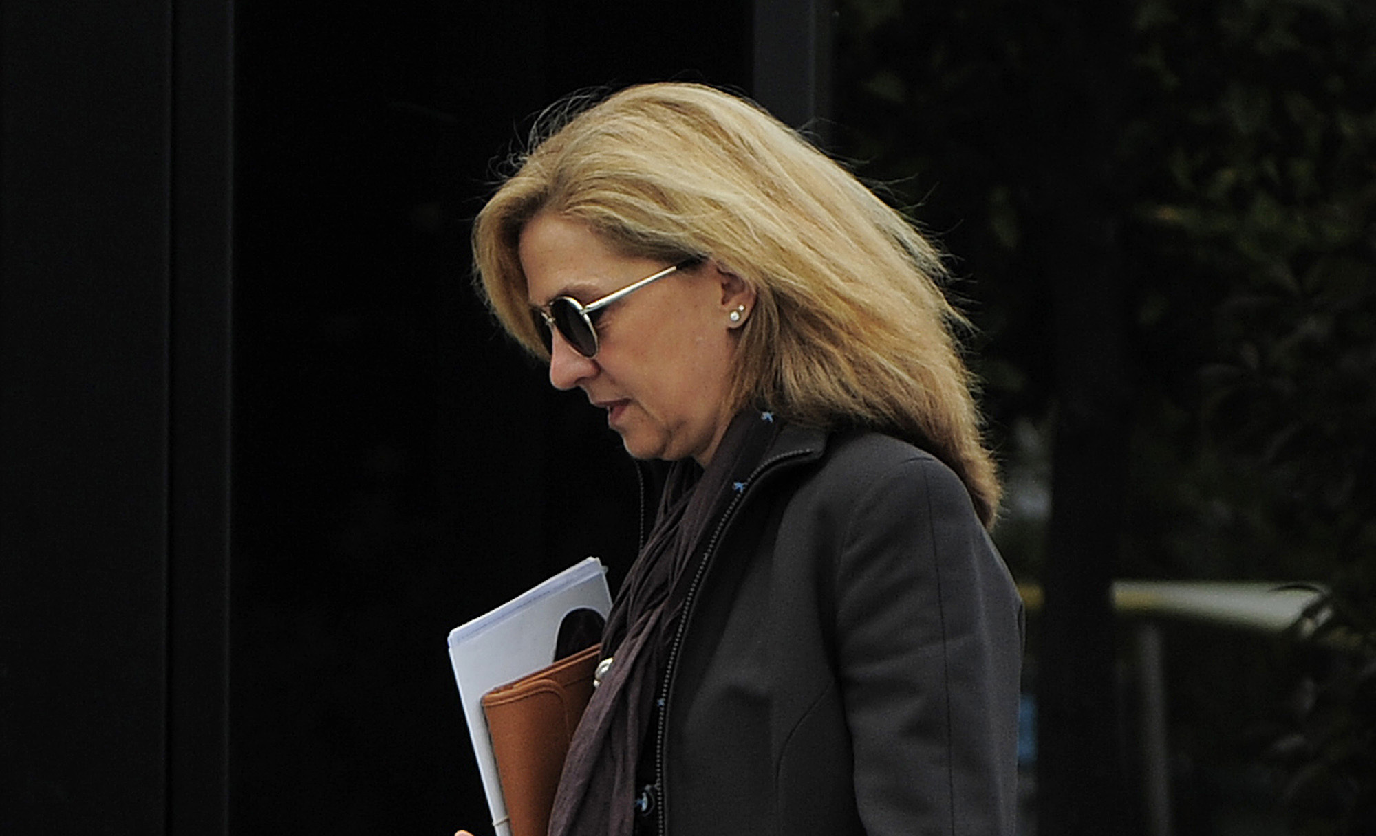 FILE - In this April 5, 2013 file photo, Spain's Princess Cristina is photographed as she walks toward her office in Barcelona, Spain. Photo: AP