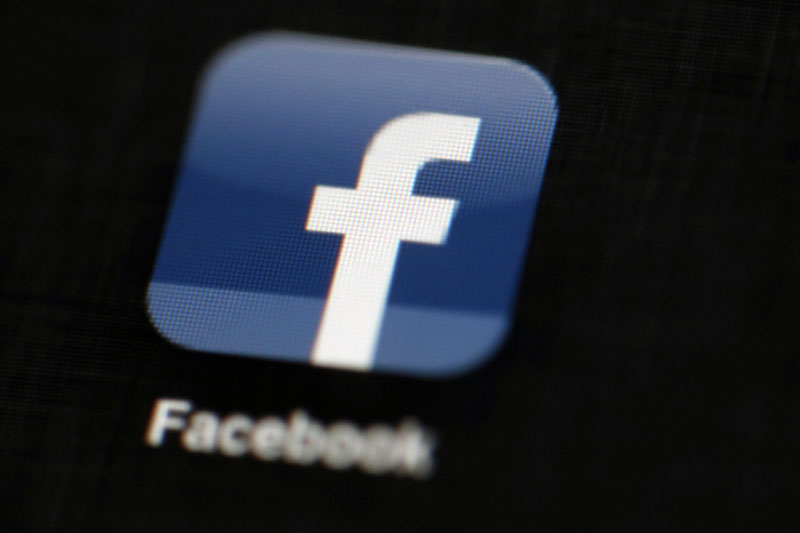 The Facebook logo is displayed on an iPad in Philadelphia on May 16, 2012. Photo: AP/ File