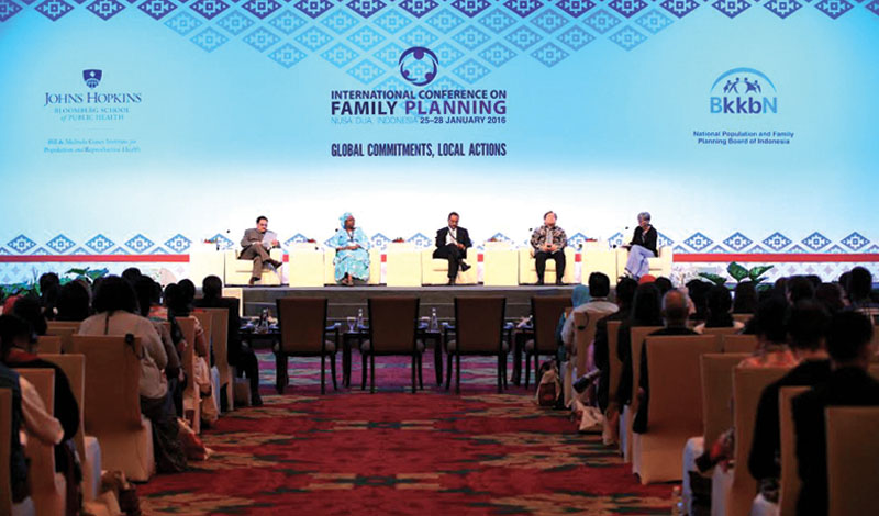 The fourth international conference on family planning in progress in Nusa Dua, Bali, on Wednesday. Photo: THT