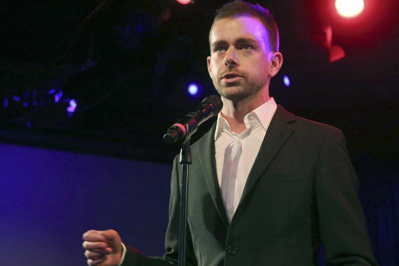 Twitter Inc co-founder and CEO Jack Dorsey speaks at a campaign fundraiser for Democratic Candidate for Public Advocate Reshma Saujani, in New York on April 24, 2013. Photo: AP/ File